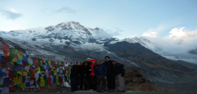 Annapurna Base Camp, happy trekkers -  himaland.com